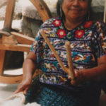 Guatemalan Woman Preparing the Raw Cotton for Weaving