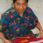 Guatemalan Woman Weaving on a Backstrap Loom